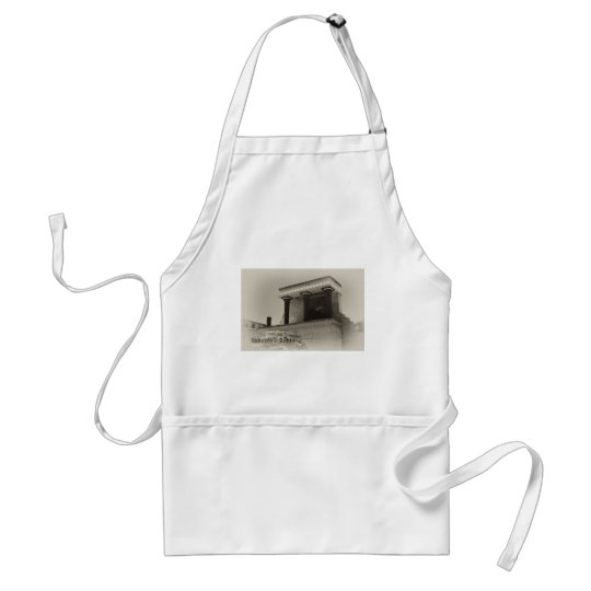 Knossos North Entrance Black and White Adult Apron