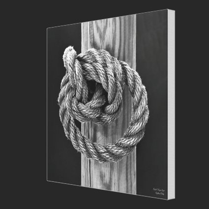 Knot A Rope Knot - MEDIUM Gallery Wrap Canvas