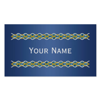 Knot Border gold silver universe + your ideas Business Card