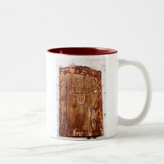 Knot Cross Two-Tone Coffee Mug