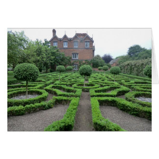 Knot Garden at Old Moseley Hall Card