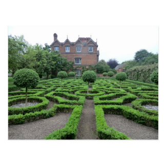 Knot Garden at Old Moseley Hall Postcard