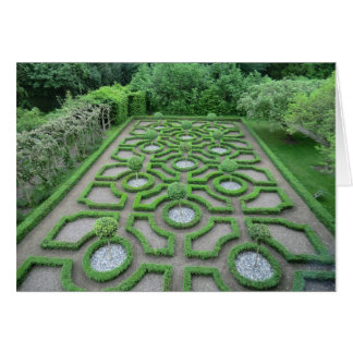 Knot Garden in the Grounds of Old Moseley Hall Card