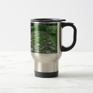 Knot Garden in the Grounds of Old Moseley Hall Travel Mug