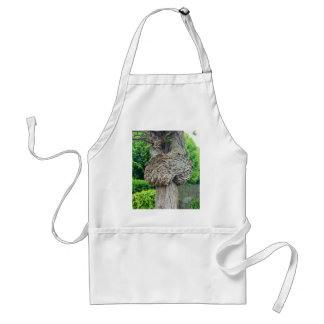 Knot on Tree Trunk, Knar, Nature Green Adult Apron