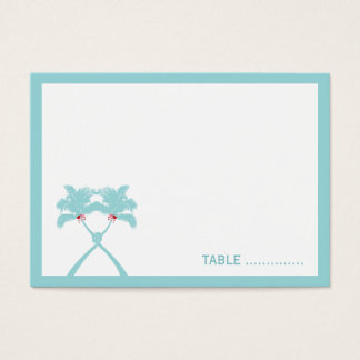 Knot Palm Trees Beach Tropical Wedding Modern Chic Business Card