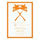 Knot Palm Trees Beach Tropical Wedding Modern Chic Card