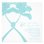 Knot Palm Trees Beach Tropical Wedding Modern Chic Personalized Invitation