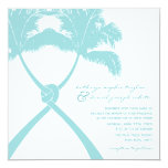 Knot Palm Trees Beach Tropical Wedding Modern Chic 5.25x5.25 Square Paper Invitation Card