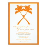 Knot Palm Trees Beach Tropical Wedding Modern Chic 5x7 Paper Invitation Card