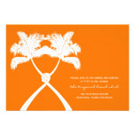 Knot Palm Trees Beach Tropical Wedding Modern Chic Personalized Invite