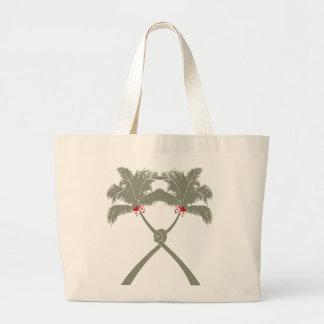 Knot Palm Trees Beach Tropical Wedding Modern Chic Jumbo Tote Bag