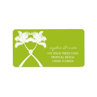 Knot Palm Trees Beach Tropical Wedding Modern Chic Custom Address Labels