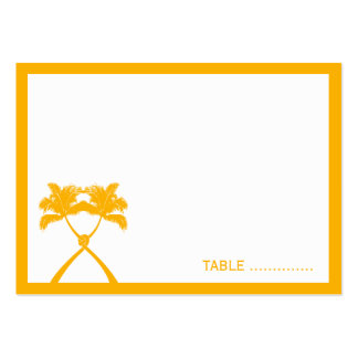 Knot Palm Trees Beach Tropical Wedding Modern Chic Large Business Card