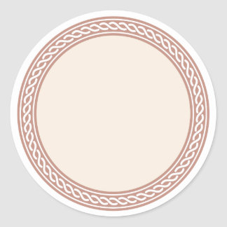 Knots Border Blank Template Label Classic Round Sticker