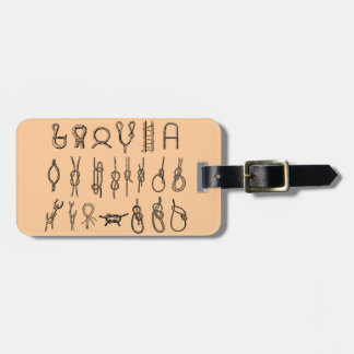 Knots, hitching,  ties, boating, luggage tag