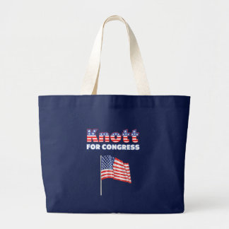 Knott for Congress Patriotic American Flag Jumbo Tote Bag