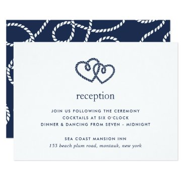Beach Themed Knotted Hearts Reception Enclosure Card