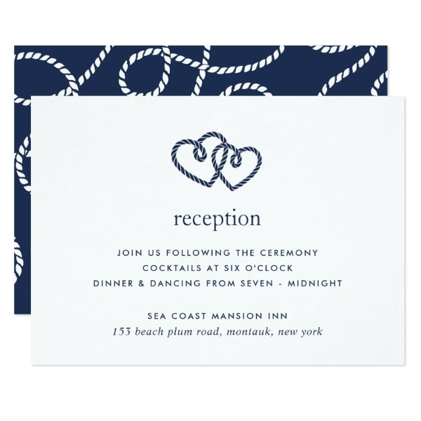 Knotted Hearts Reception Enclosure Card