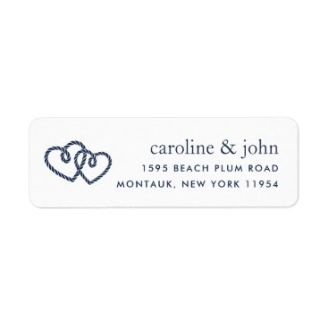 Beach Themed Knotted Hearts Return Address Label