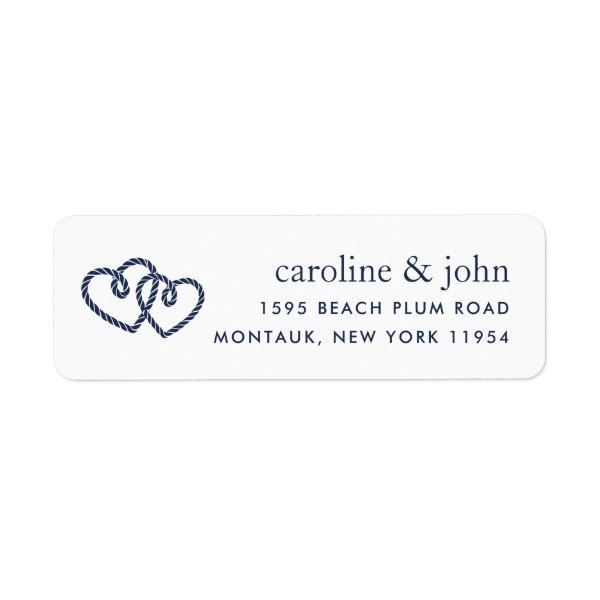 Knotted Hearts Return Address Label