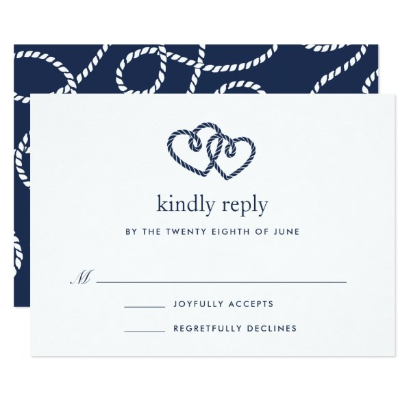Knotted Hearts RSVP Card