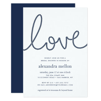 Knotted Love Bridal Shower Invitation