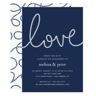 Knotted Love Engagement Party Invitation
