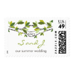 Knotted Love Green Trees Summer Wedding Stamps