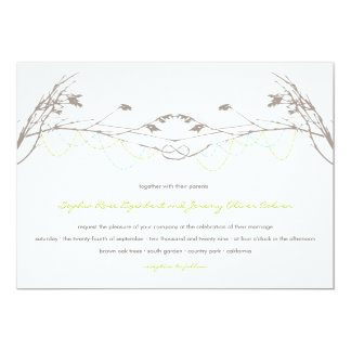 Knotted Love Trees Branch Wedding Invitation Card
