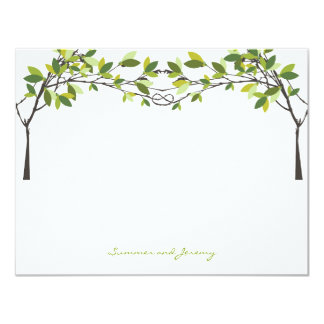 Knotted Love Trees Wedding Monogram Thank You Card
