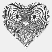 Knotted Mandala Owl Black and White