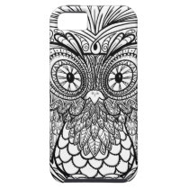 Knotted Mandala Owl Black and White iPhone SE/5/5s Case