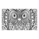 Knotted Mandala Owl Black and White Rectangular Sticker