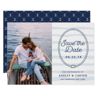 Knotted | Nautical Photo Save the Date Card