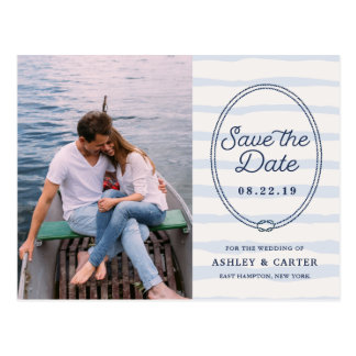 Knotted | Nautical Photo Save the Date Postcard