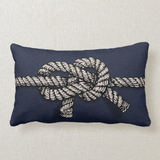 Knotted Nautical Rope Pillow