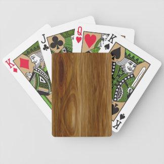 Knotted Oak Woodgrain Look Poker Cards
