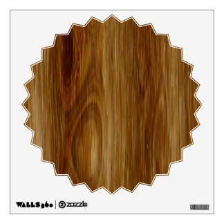 Knotted Oak Woodgrain Look Room Decals