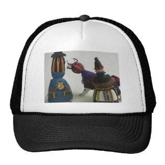 Knotted Porcelain Sculptures Mesh Hats
