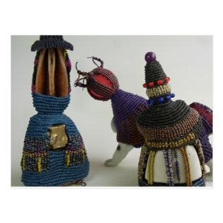 Knotted Porcelain Sculptures Postcard