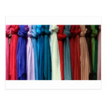 knotted scarves postcard