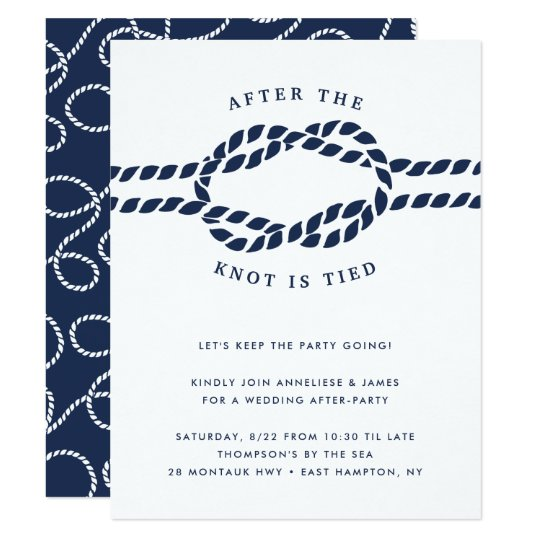 After Party Wedding Invitations: Wedding After Party Invitation
