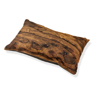Knotted Wood Print Dog Bed