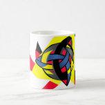 Knotted World Black Monogram Mug