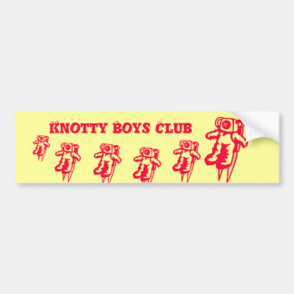 KNOTTY Boys Club Bumper Sticker
