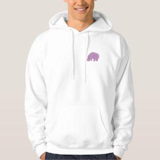 Knotty Hippo - back Hoodie