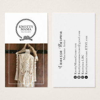 Knotty Mama White Border Business Card