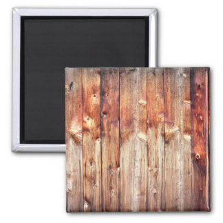 Knotty pine 2 inch square magnet