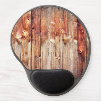 Knotty pine gel mouse pad